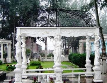 Carved Marble Gazebos outdoor  Greek Venus columns, Roman Style Pillars.