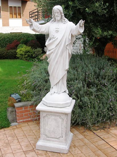 Jesus Statue , LargJesus Marble Sacred Heart Of Jesus Statues Outdoor Statue  Of Christ