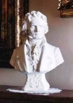 Beethoven Bust statue in cast marble bust of beethoven