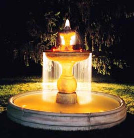 TWO TIERED FOUNTAIN CLASSIC TUSCAN FOUNTAINS -ITALIAN VILLA FOUNTAIN