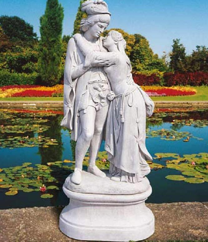 Ordinaire Famous Statue Of The Lovers Romeo And Juliet   Cast Carrara Italan Marble  Statues And Garden Sculptures