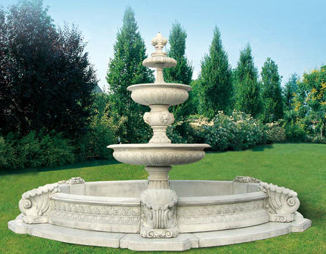 LARGE FOUNTAIN GARDENS OUTDOOR WATER FOUNTAINS GARDEN LARGE ART ...