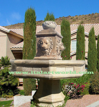 marble Fountain available Statue lion Fountain