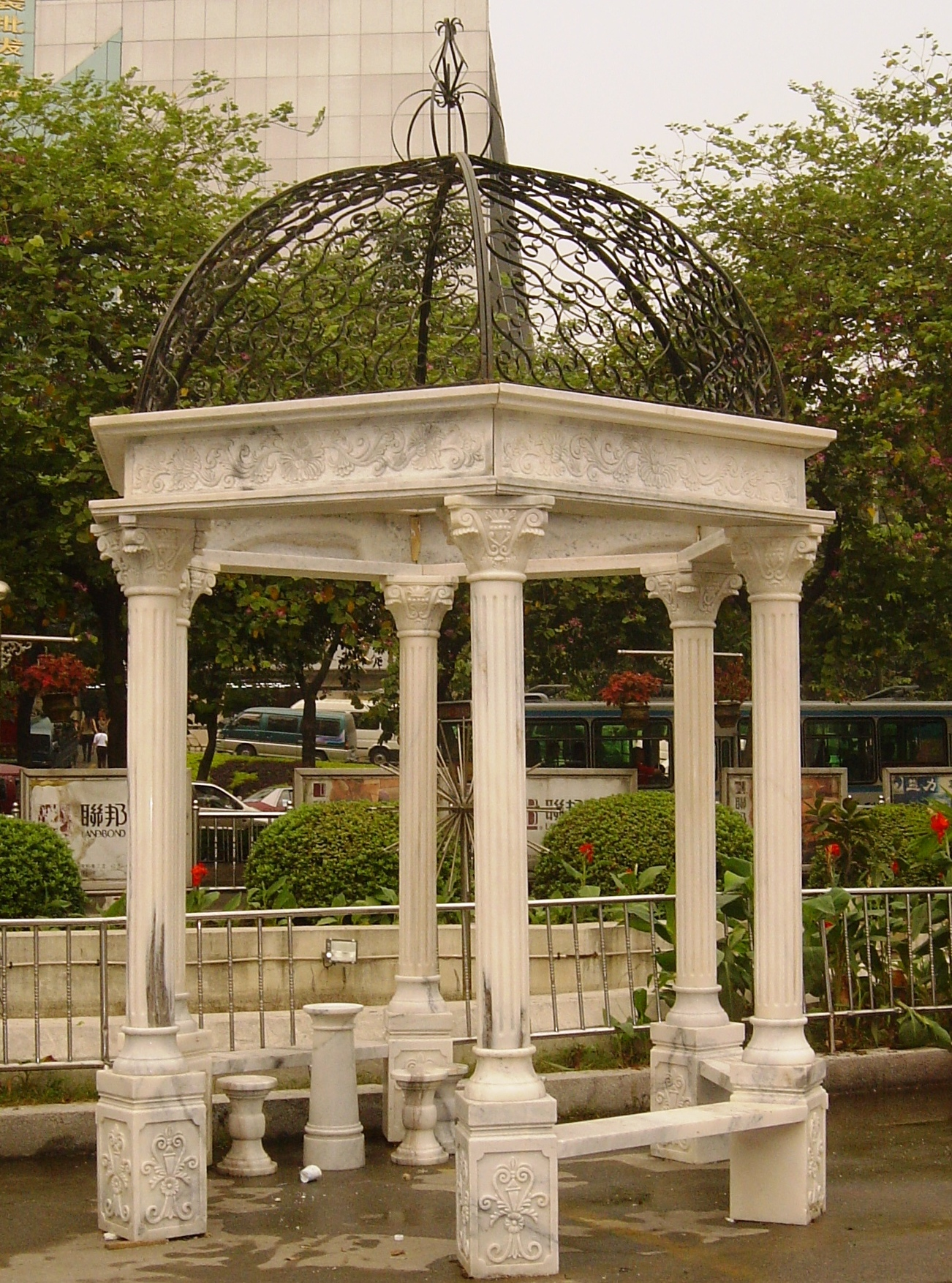 Marble Gazebo Outdoor Marbles Gazebos Italian Carved Stone