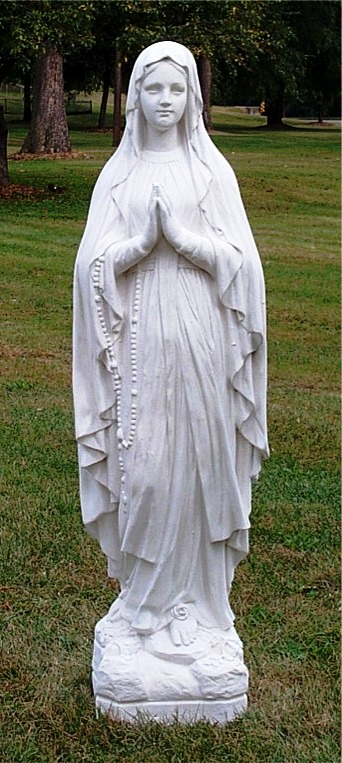 Beau LAdy Lourdes Statue Sacred Statuary MArble Religious Statues