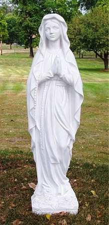 Lady Lourdes Outdoor Statue Marble Statue Of Lady Lourdes Made In Italy
