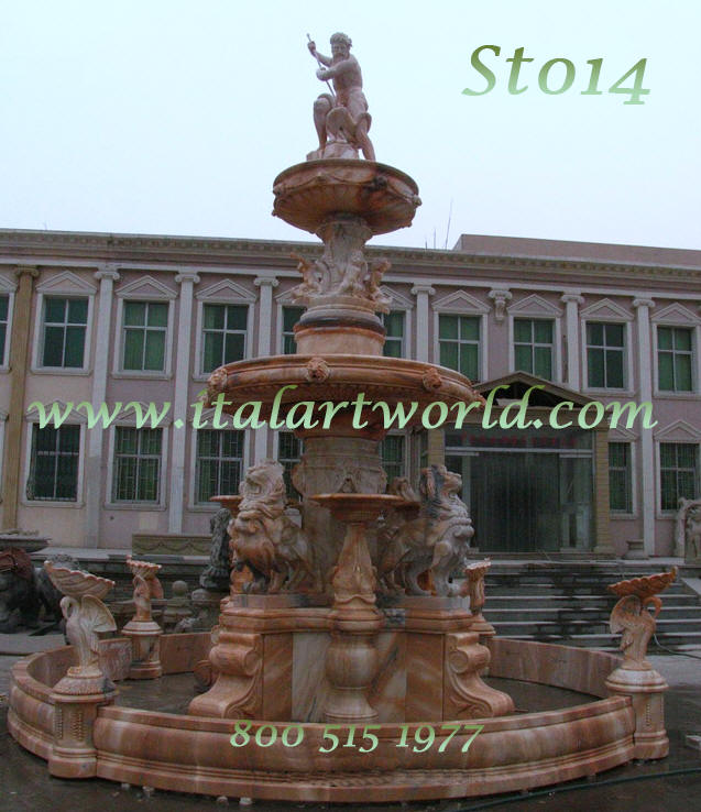 Large FountainLions Water spry fountains rwhite marble lions fountain