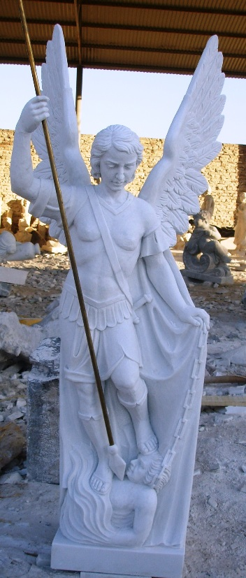 Both Carved From Solid Italian Marble   Have Some More Religious Statues  Coming !!