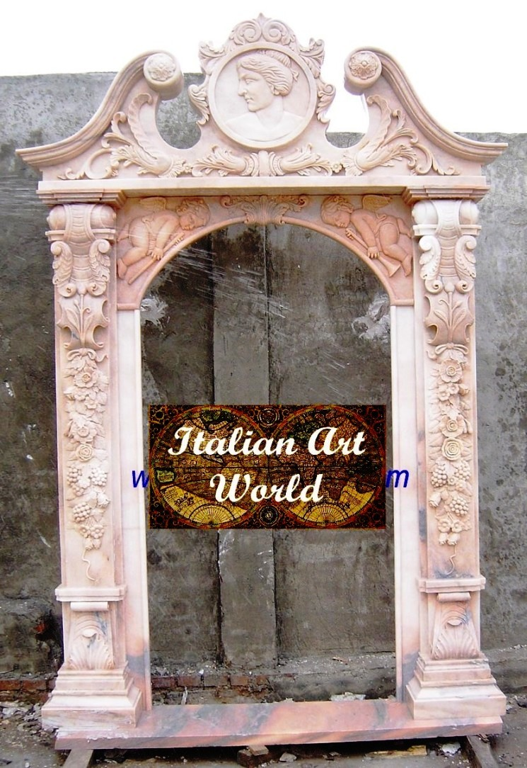 Hand Carved Stone Marble Door Stone Window Seals Italian