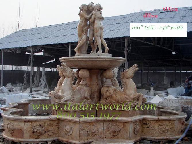 Large Italian Fountains And Time Piece Fountain Selections Cast And Carved  Marble, Travertine, Limestone And Other Natural Stone Fountains