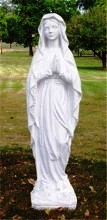 Small Mary Lourdes Statue , Garden Statue of Lady Lourdes
