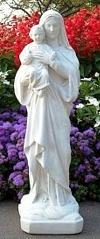 Mother Mary w Jesus statue Small Child Statue w Mother Mary Madonna