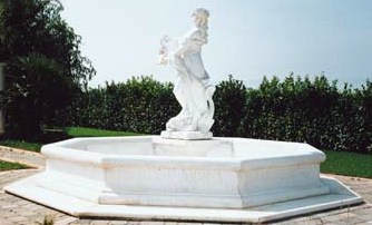 Statue Water Founatin Marble Statuary Fountains