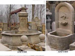 Antiques stone art carving old Europe style wall fountains and Statuary carving