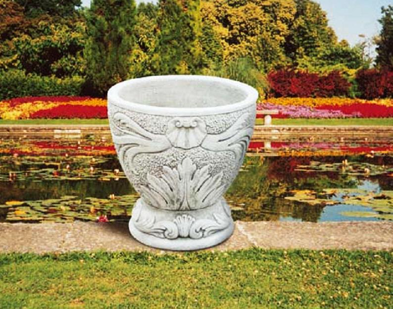 Click On Large Vase Image Back To Main Planters Page   Cast From Carrara  Marble In Italy !
