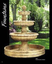 CSt stone Fountains classical tier Fountain  cast  fountains