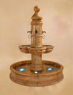 French Fountain Spanish Fountain Cast Stone indoor Fountain