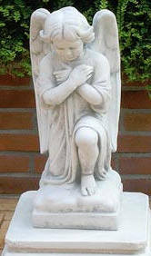 Knilling Angel Statue , Sacred weeping angel statue outdoor