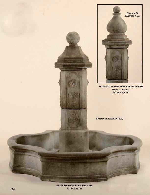 Outdoor Cast Fountains Concrete French Fountain Pond