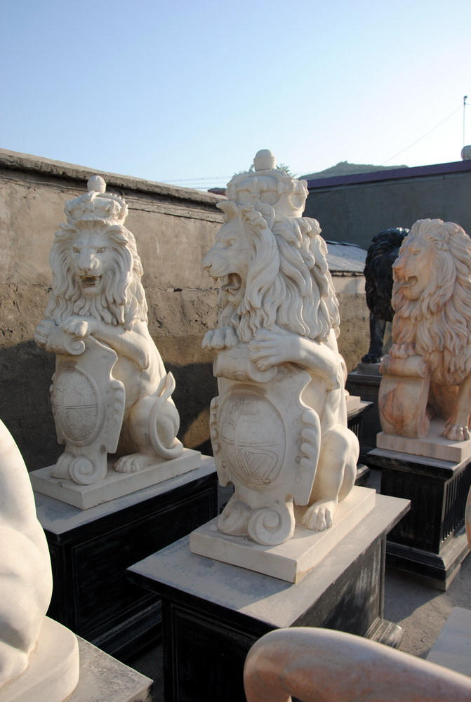 Marble Lion Statues Horse Marble Statuary Carved