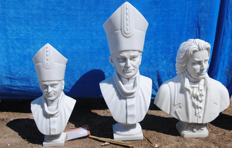 Religious figure bust , made bust of Sacred People Catholic statue busts