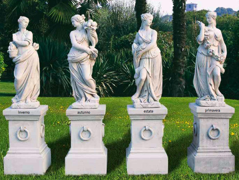 FOUR SEASONS STATUE SCULPTURES  4 SEASONS SET STATUARY ART MARBLE STATUARY  FOUR SEASONS GARDEN STATUE,4 Seasons Outdoor Sculptures, Carved Four Garden  ...