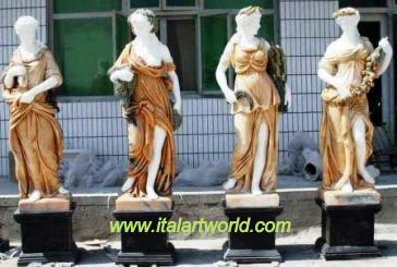 Greek Statues,4 Seasons Sculpture Roman  sculpture Statuary, Four Seasons Statues, Baroque Style Reproductions.