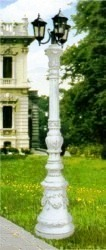 Baroque statue decor columns street lamps Statuary, Classical Greek Statuary, Roman Statuary