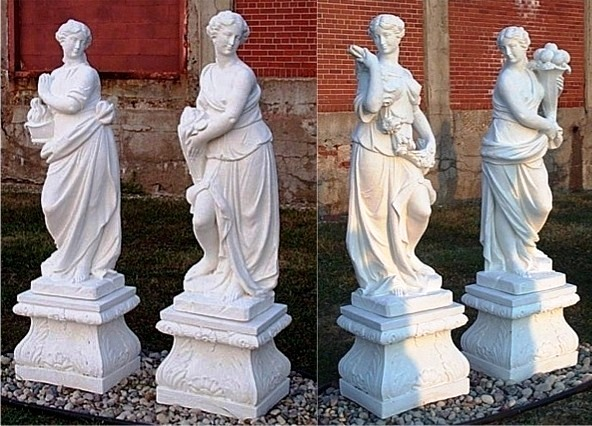 Four Seasons Statue Sets 4 Seasons marble Carved outdoor 4 seasons statues sculptures 4 seasons.